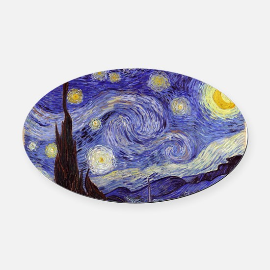 Van Gogh Starry Night Oval Car Magnet