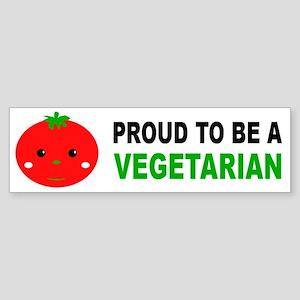 Proud To Be A Vegetarian Bumper Sticker