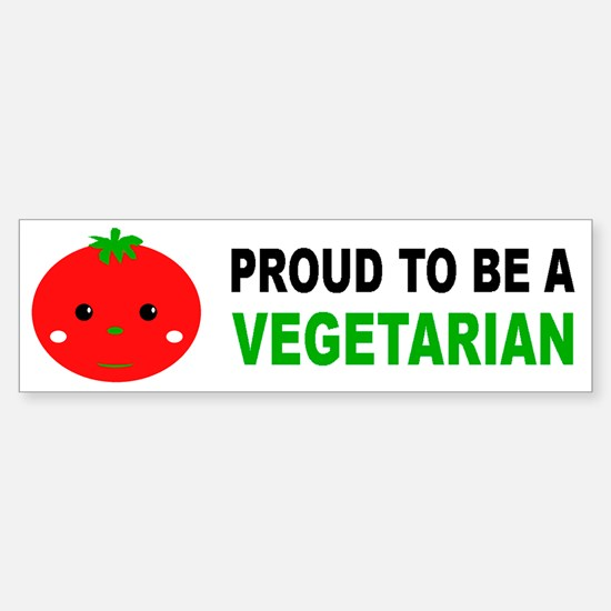 Proud To Be A Vegetarian Bumper Bumper Bumper Sticker