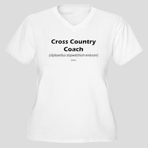 Latin CC Coach Women's Plus Size V-Neck T-Shirt