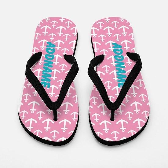 Pink Anchor Custom Flip Flops