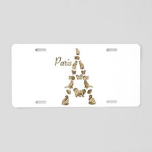 Paris Eiffel Tower of Cats Aluminum License Plate