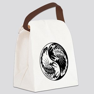 White and Black Yin Yang Scorpions Canvas Lunch Ba
