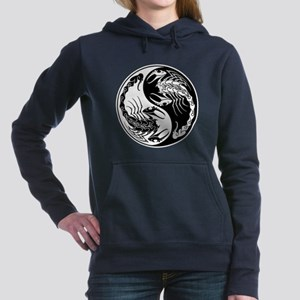 White and Black Yin Yang Scorpions Women's Hooded
