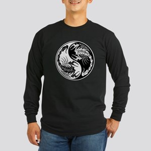 White and Black Yin Yang Scorpions Long Sleeve T-S