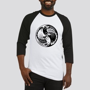 White and Black Yin Yang Scorpions Baseball Jersey