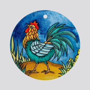Rooster 2 Ornament (Round)