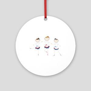 Ballet Dancers Ornament (Round)