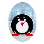 Little Fat Penguin Ornament (Oval)