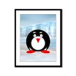 Little Fat Penguin Framed Panel Print