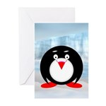 Little Fat Penguin Greeting Cards