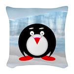 Little Fat Penguin Woven Throw Pillow
