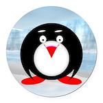 Little Fat Penguin Round Car Magnet