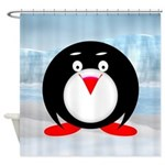 Little Fat Penguin Shower Curtain