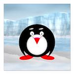 Little Fat Penguin Square Car Magnet 3