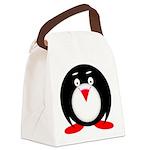 Little Fat Penguin Canvas Lunch Bag