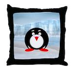 Little Fat Penguin Throw Pillow