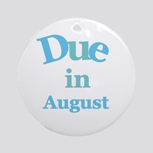 Blue Due in August Ornament (Round)