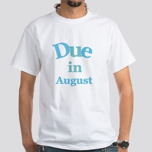 Blue Due in August White T-Shirt