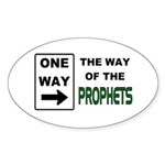 Way of the Prophets Oval Sticker
