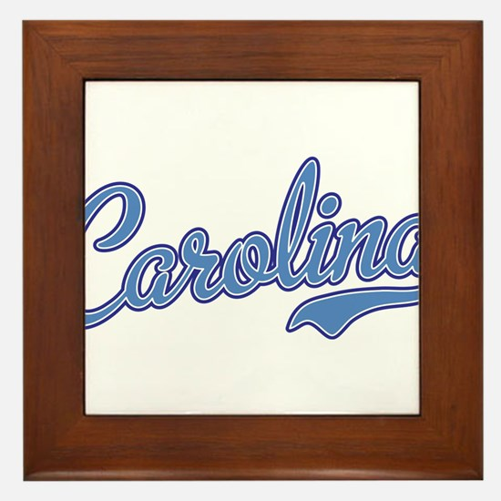 Carolina Blue Framed Tile