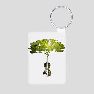 Violin tree Keychains