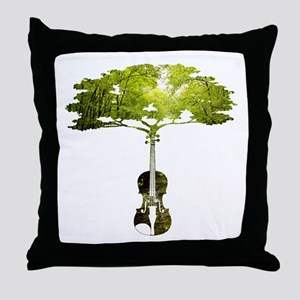 Violin tree Throw Pillow