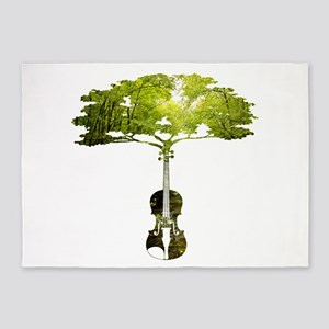 Violin tree 5'x7'Area Rug