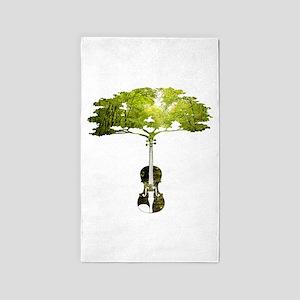 Violin tree 3'x5' Area Rug