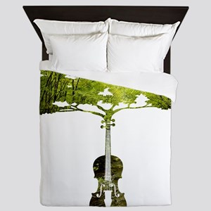 Violin tree Queen Duvet
