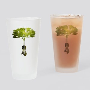 Violin tree Drinking Glass