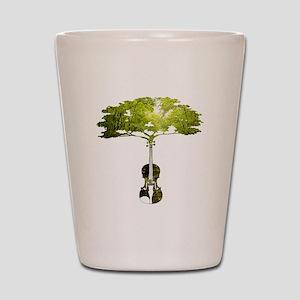 Violin tree Shot Glass