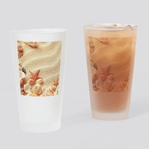 Seashells Drinking Glass