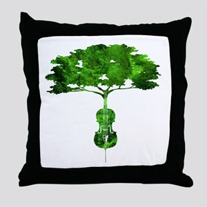 Cello tree-2 Throw Pillow
