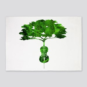 Cello tree-2 5'x7'Area Rug