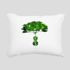 Cello tree-2 Rectangular Canvas Pillow