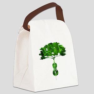 Cello tree-2 Canvas Lunch Bag