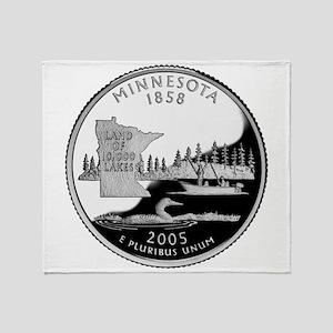 Minnesota Quarter Throw Blanket