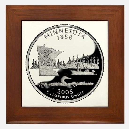 Minnesota Quarter Framed Tile