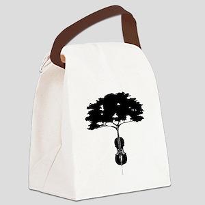 cello tree Canvas Lunch Bag