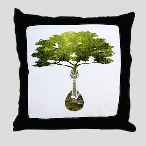 Mandolin Tree Throw Pillow