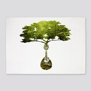 Mandolin Tree 5'x7'Area Rug