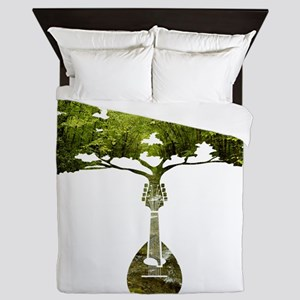 Mandolin Tree Queen Duvet