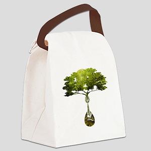 Mandolin Tree Canvas Lunch Bag