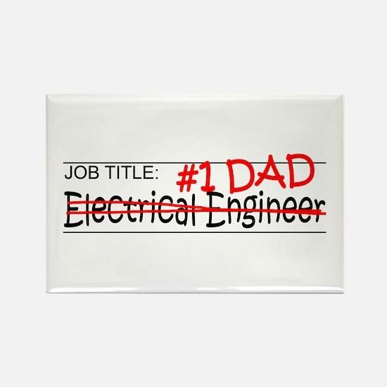 Job Dad Elect Eng Rectangle Magnet
