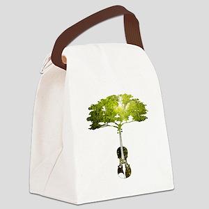 Violin tree Canvas Lunch Bag