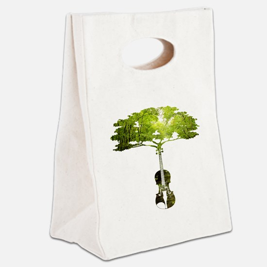 Violin tree Canvas Lunch Tote