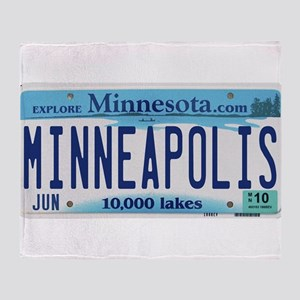 Minneapolis License Throw Blanket