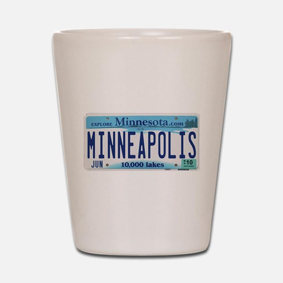 Minneapolis License Shot Glass
