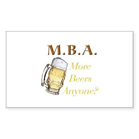 MBA Beers Rectangle Sticker